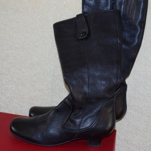 BIVIEL Leather  Calf Boots Women's Size Italy 40